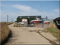 TM4599 : A boatyard beside the River Waveney in St Olaves by Evelyn Simak