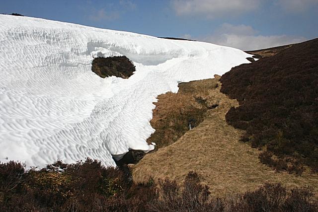 Snow Bank by the Badenshore Burn