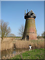 TG4400 : Toft Monks drainage mill in the Fritton Marshes by Evelyn Simak