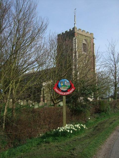 Theddlethorpe village signpost
