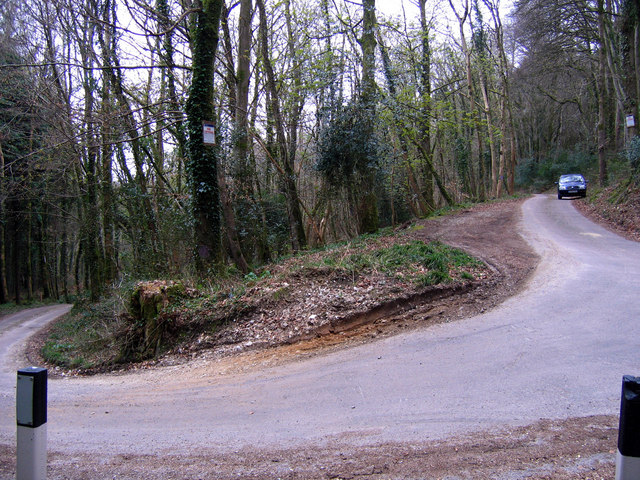 Hairpin bend at St Mary's Woods in Yawl