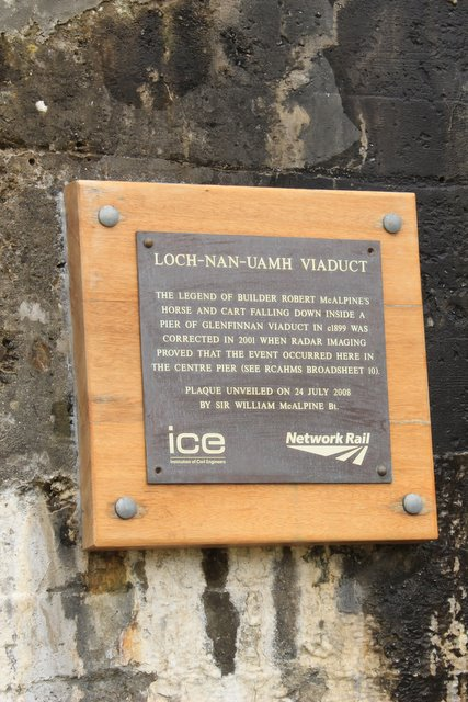 Loch Nan Uamh viaduct plaque