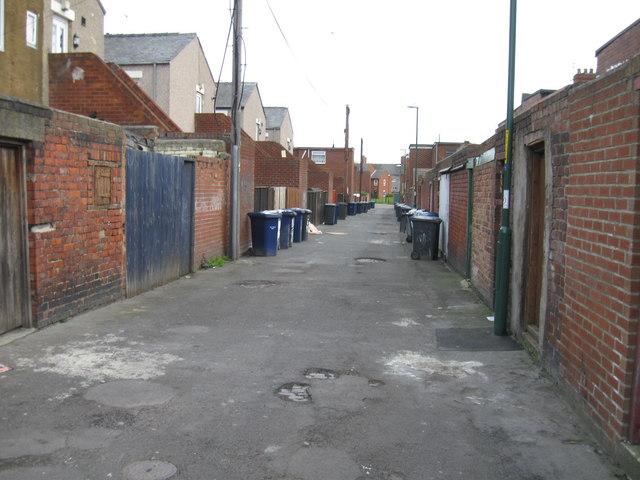 Back of Lemon Street, South Shields