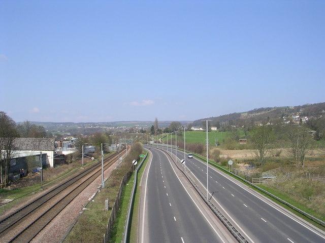 Bingley Bypass viewed from Footbridge