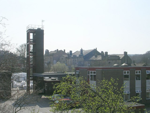 Fire Station - viewed from Footbridge over Bingley Bypass