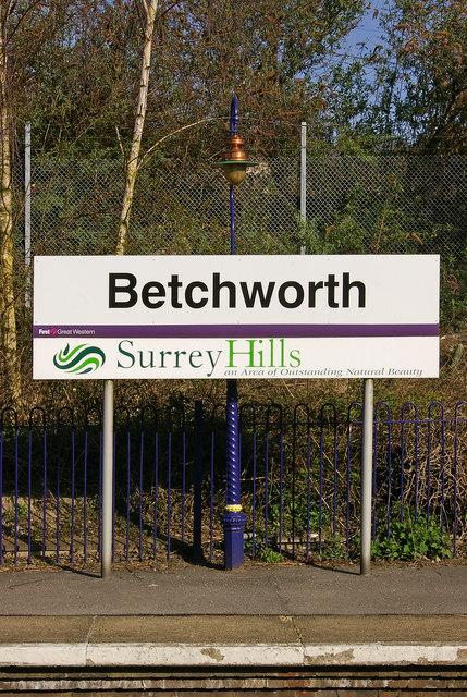Betchworth Station sign