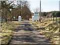 NS3162 : Gate posts to Muirshiel by Gordon Dowie