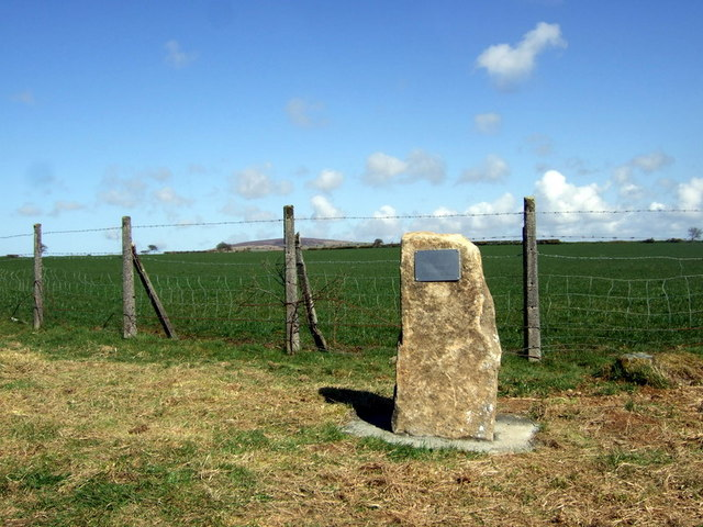 Wartime aircrash memorial at New House crossroads