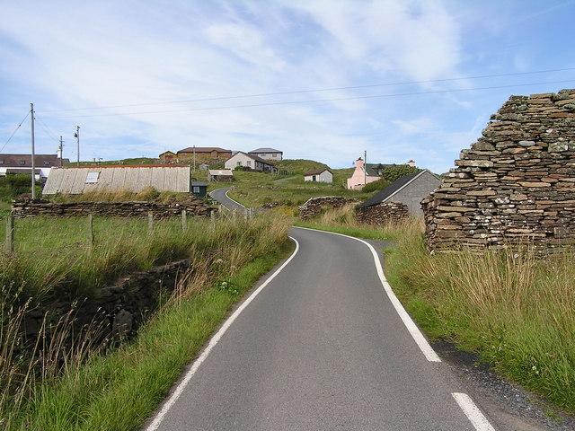 Road at Fladdabister
