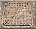J3673 : Ulster Foundries manhole cover, Belfast (1) by Albert Bridge