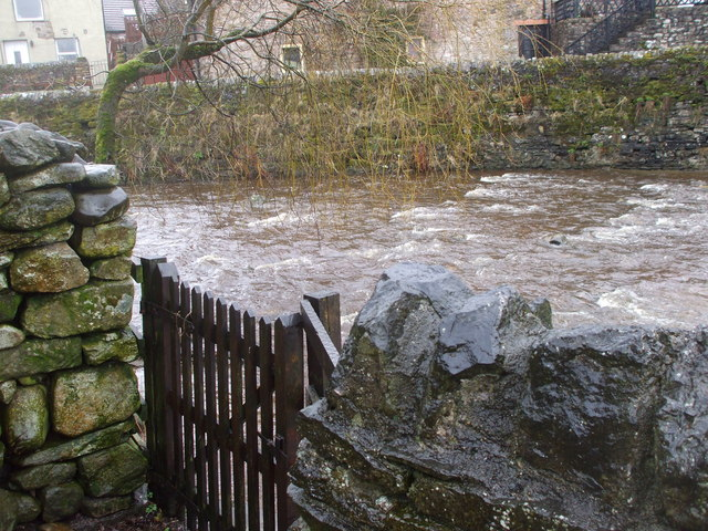Gate giving access to the beck, Brough