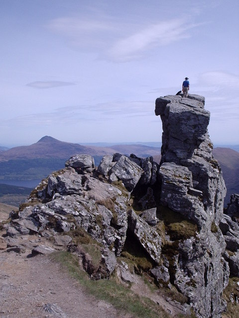 Summit of The Cobbler.  Gaelic: Beinn Artair 884m