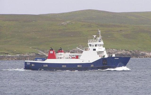 Ferry 'Hendra' approaching Symbister