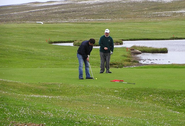Players on Whalsay Golf Course