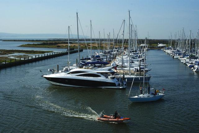 Boats at Lymington Marina, Hampshire