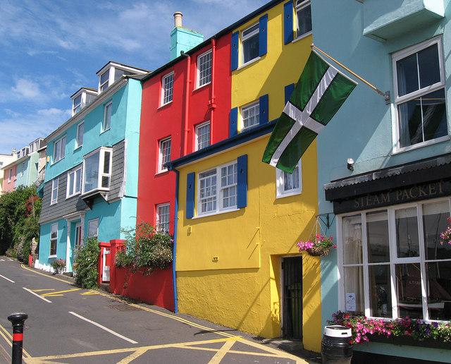 Painted houses in Kingswear