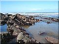 SX1396 : Dipping strata on the beach at Crackington Haven by Rod Allday