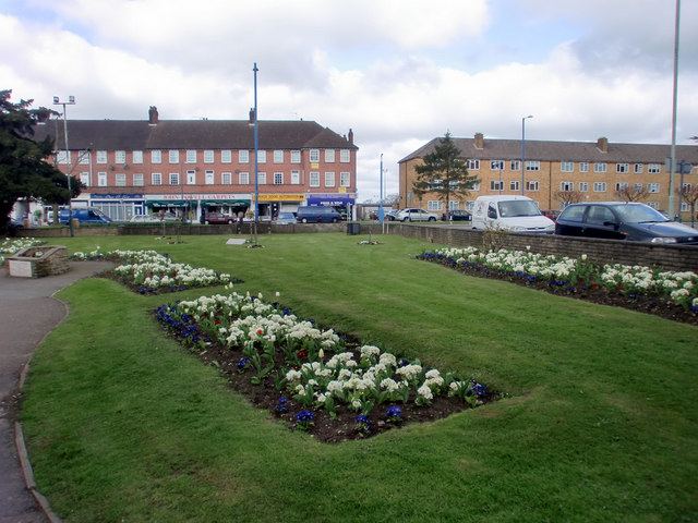 Flowerbed, High Street, Potters Bar, Hertfordshire