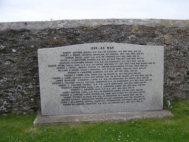 World War 2 Memorial at Whalsay Kirk