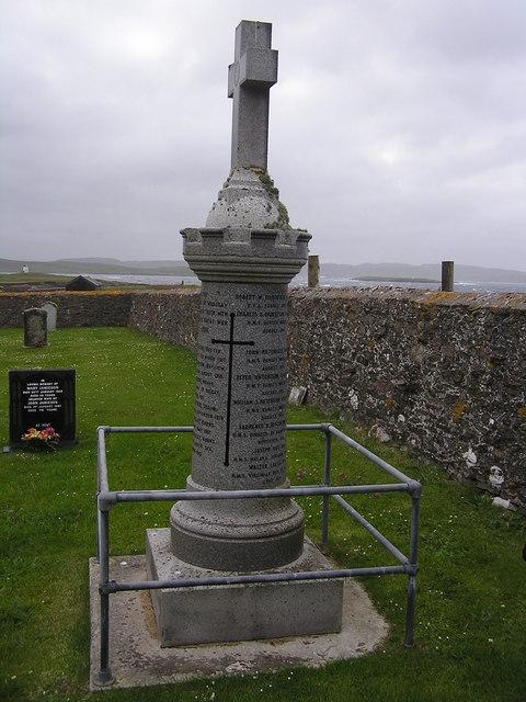 World War 1 Memorial at Whalsay Kirk