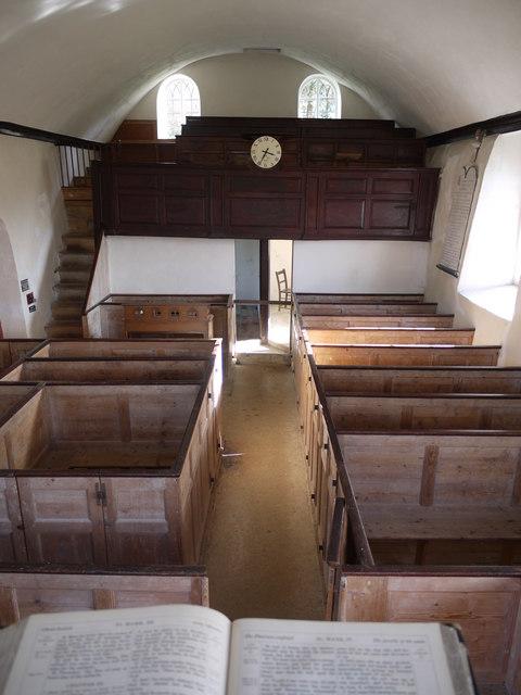 Inside Loughwood Meeting House