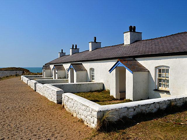 Pilots' cottages on Ynys Llanddwyn