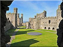 SH4762 : Caernarfon Castle by Dr Richard Murray