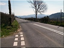 SH5340 : The A487 east of the Lon Garnedd Hir junction by Eric Jones