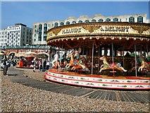 TQ3103 : Carousel on Brighton Beach by Paul Gillett