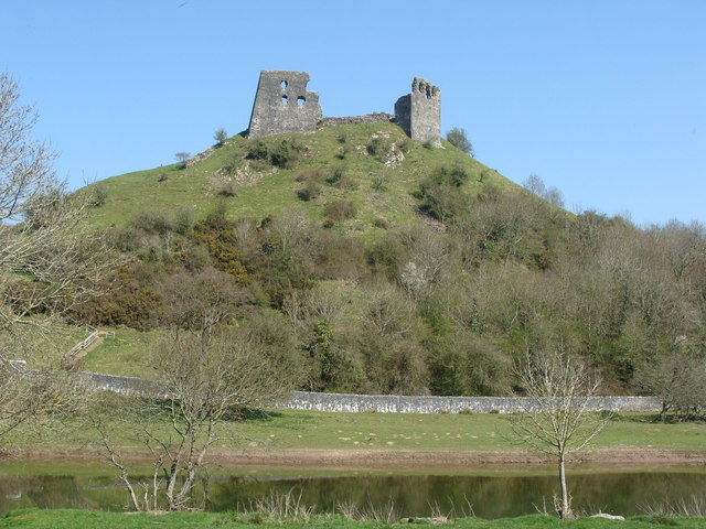 Dryslwyn Castle and the River Towy