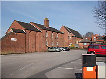 SP2872 : The rear of the United Reformed Church and Conservative Club by John Brightley
