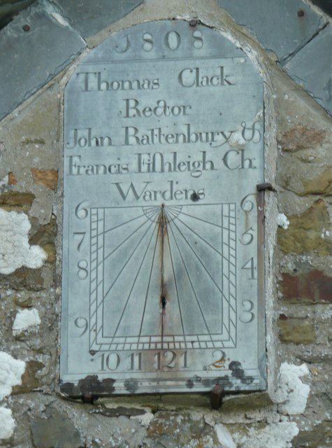 Sundial on Holy Trinity Church, Milton Damerel