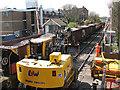 TQ4178 : Ballast train at Charlton Lane by Stephen Craven