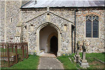 TF9624 : St Helen, Gateley, Norfolk - Porch by John Salmon