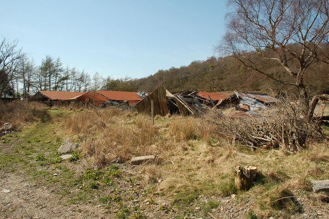 Ruined mink farm, Appin
