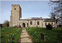 TF9624 : St Helen, Gateley, Norfolk by John Salmon