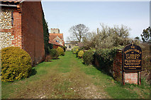 TF9624 : Pathway to St Helen, Gateley, Norfolk by John Salmon