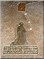 TF8014 : The church of St George in South Acre - memorial by Evelyn Simak