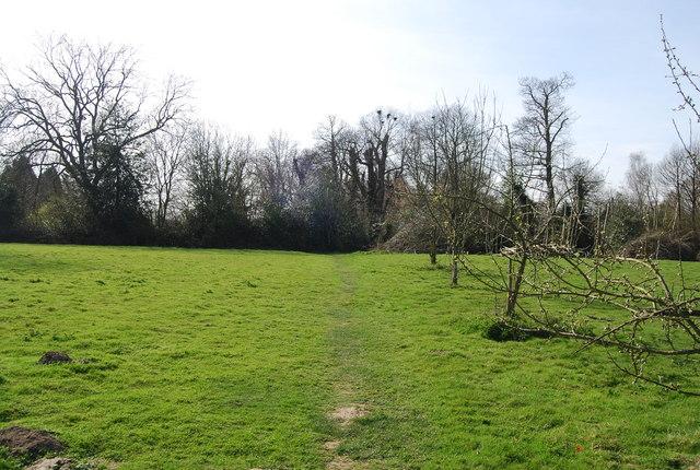 High Weald Landscape Trail approaching Lamberhurst Rd