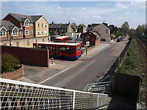 TQ2075 : Bus terminus, North Worple Way by Derek Harper