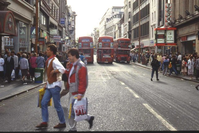 Oxford Street: East end, looking West, 1991