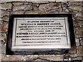 SW3731 : Stephen Harvey James memorial - St Just church by Sarah Smith