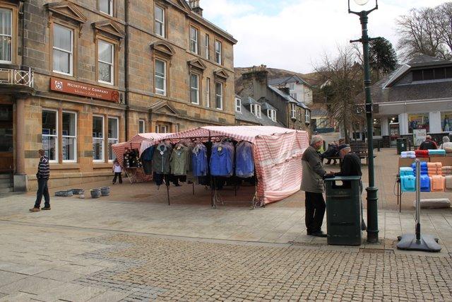 Street market, Cameron Square.