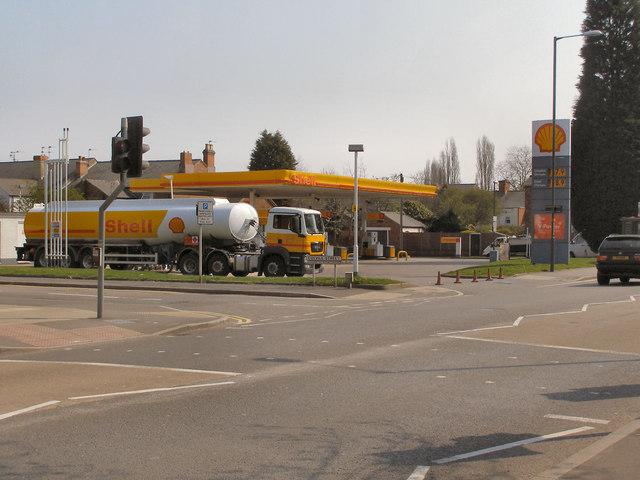The Shell Petrol Filling Station, Ashbourne Road