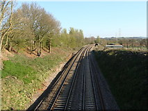 ST0209 : Main line looking south from Willand by Ruth Sharville