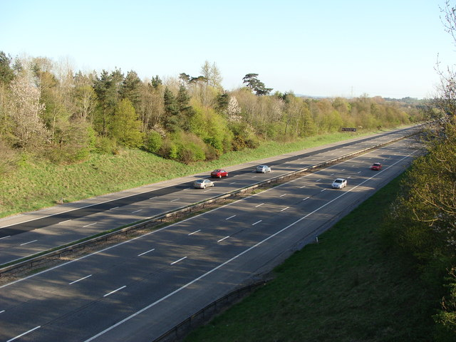 M5 Motorway looking south from near Willand
