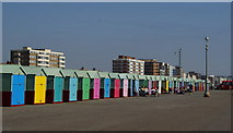 TQ2704 : Beach Huts at Hove, Sussex by Peter Trimming