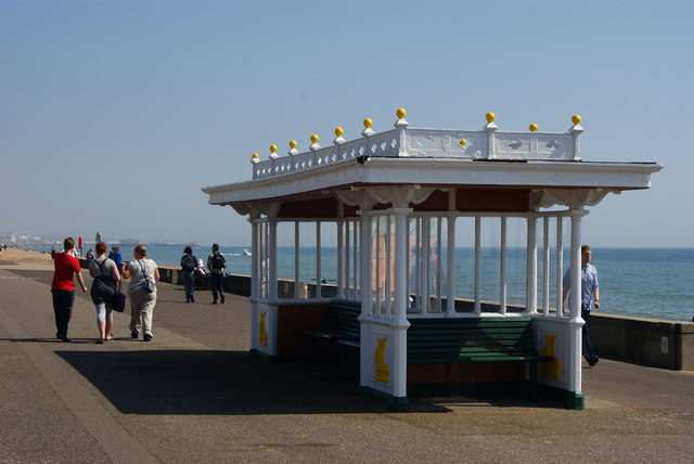 Shelter on the Western Esplanade, Hove, Sussex