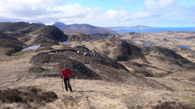 Hillside north-east of the summit of Cruib