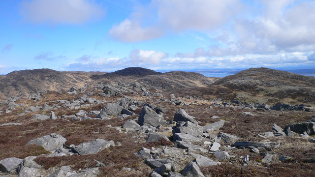 Top to the south-east of Rainberg Mor summit